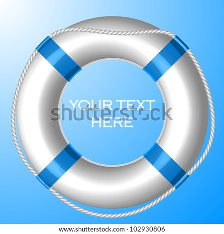 Vector background with Life Buoy - stock vector