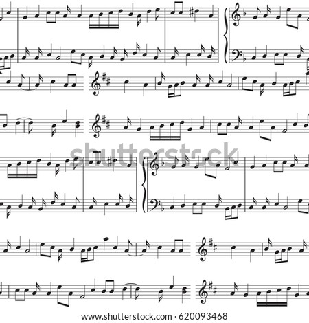 staff music notes