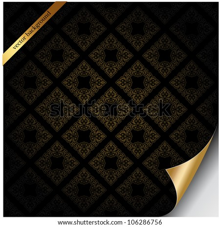 Vector background with patterns - stock vector