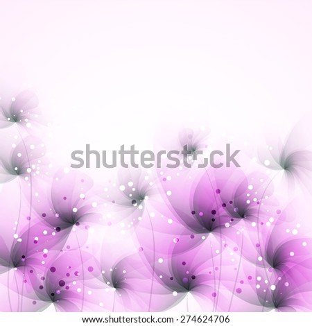 Vector background with pink flowers. EPS 10. Contains transparent objects. - stock vector