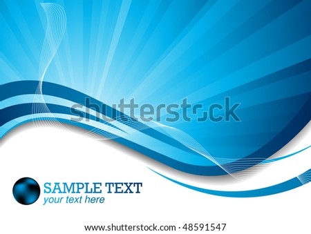 Vector background with ray; clip-art