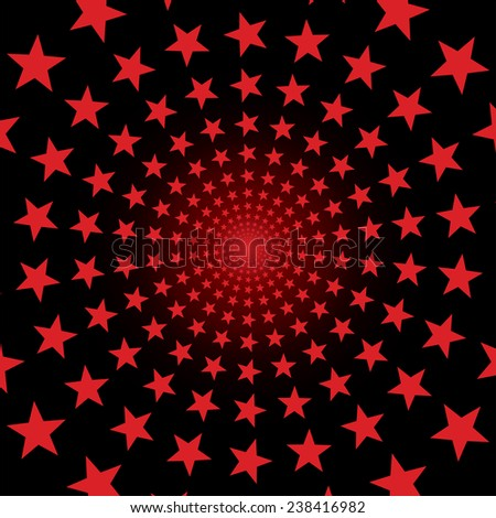 Vector background with red stars.