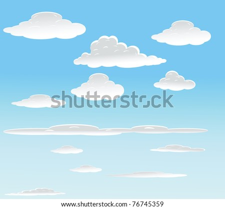 vector background with sky.