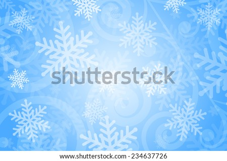 Vector background with snowflakes - stock vector