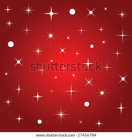 Vector background with stars - stock vector