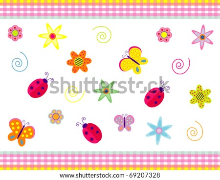 Vector background with summer' symbols for different uses - stock vector