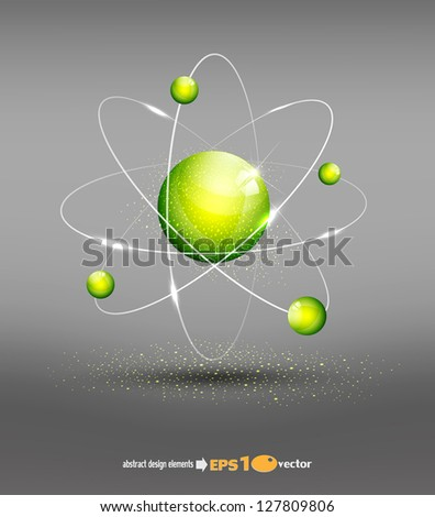 vector background with the atom - stock vector