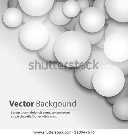 Vector background with white circles - stock vector