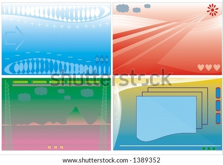 Vector backgrounds for design. - stock vector