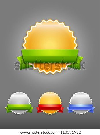 Vector badge - stock vector