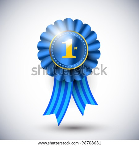 Vector badge which shows quality and winning - stock vector