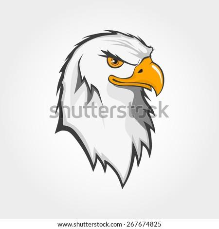 vector bald eagle bird head draw stock vector royalty free