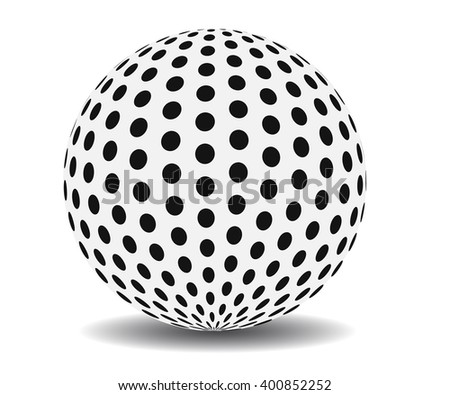 Vector ball made of dots, 3d printing idea illustration. - stock vector