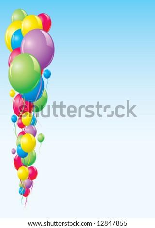 Vector balloon background - stock vector