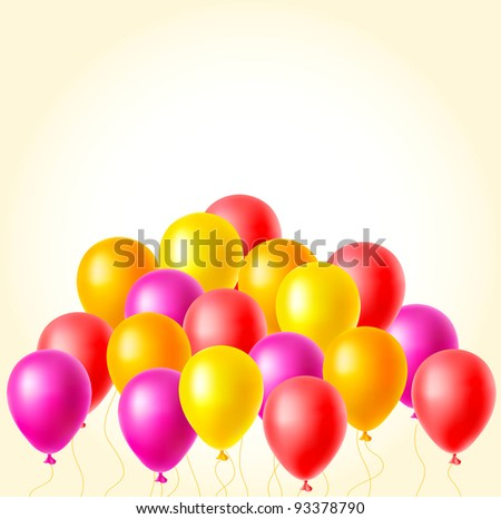 Vector balloons background for your design.