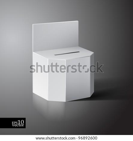 Vector ballot/lottery box - stock vector