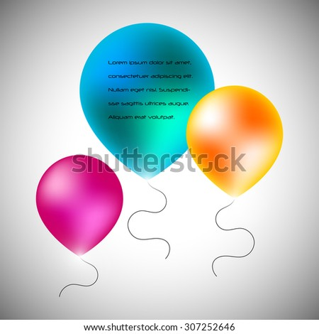 Vector baloons background, party background, carnival background, abstract background - stock vector