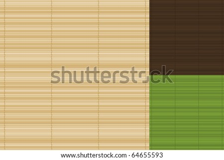 Vector Bamboo Background Set - stock vector