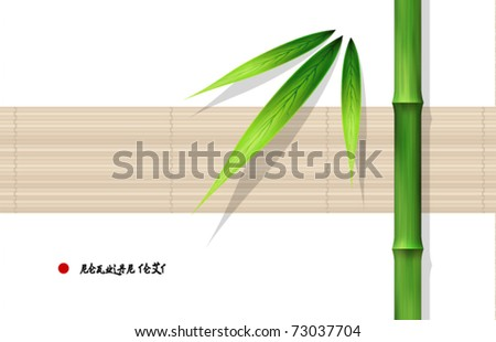 Vector Bamboo Design - stock vector