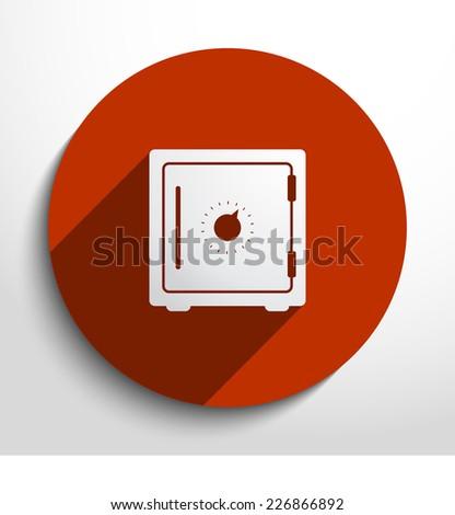 Vector bank safe web icon. Eps 10. - stock vector