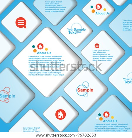 Vector banner bubble background - stock vector