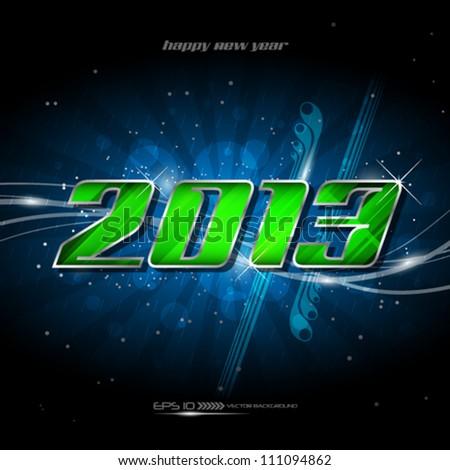 Vector banner happy new year 2013 - stock vector
