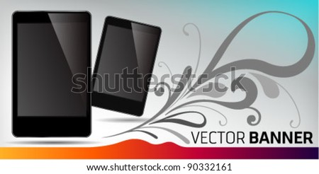 Vector Banner Smart phone promotion. Graphic Design Editable For Your Design.
