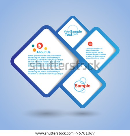 Vector banner speech bubble - stock vector
