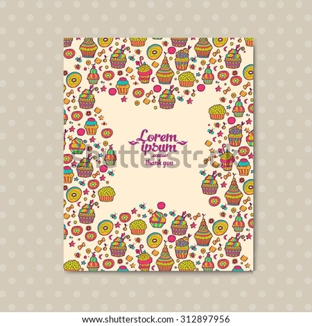 Vector banner templates with floral doodles romantic vintage theme. Greeting card made in retro style. Templates banner in vintage design. Wedding invitation - stock vector