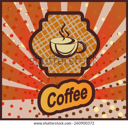 Vector banner with coffee - stock vector