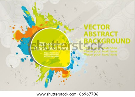 Vector banner with spray paint