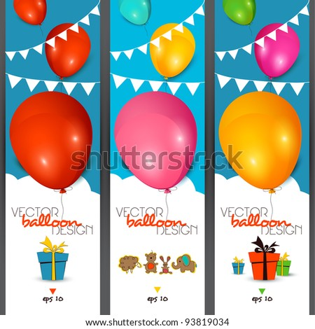 Vector banners - stock vector