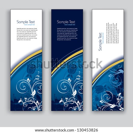 Vector Banners. Abstract Backgrounds. Eps10 Format. - stock vector