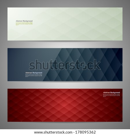 Vector banners and squares. Color set - stock vector