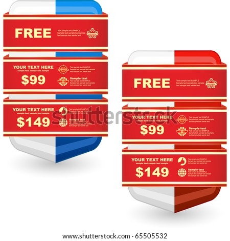 Vector banners for sale. - stock vector