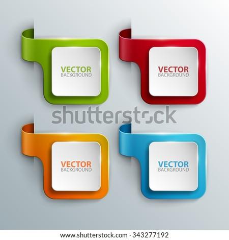 Vector banners set. - stock vector