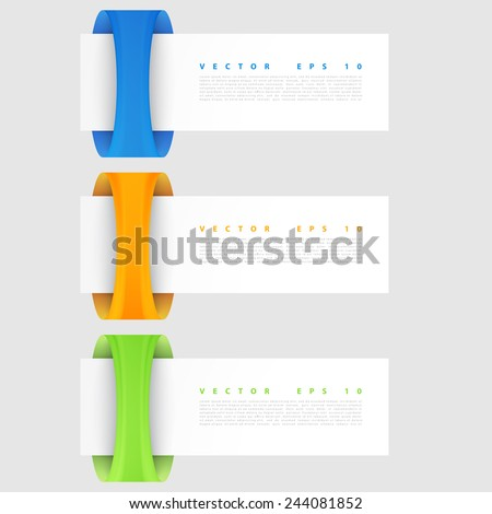 Vector banners set. Modern spiral banner. Vector illustration