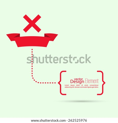 Vector banners with check marks rejection and form of access denial, refusing. brackets with text - stock vector