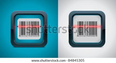 Vector bar code scanner icon - stock vector