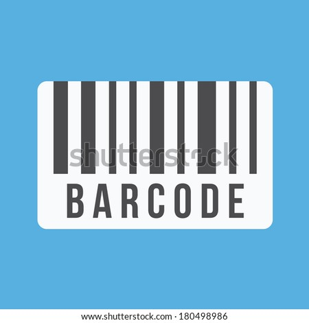 Vector Barcode Icon - stock vector