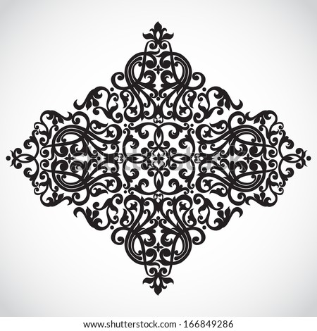 Vector baroque ornament in Victorian style. Ornate element for design. Toolkit for designer. It can be used for decorating of wedding invitations, greeting cards, decoration for bags and clothes. - stock vector