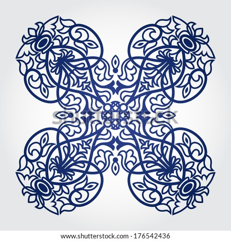 Vector baroque ornament in Victorian style. Ornate element for design. Toolkit for designer. It can be used for decorating of wedding invitations, greeting cards, decoration for bags and clothes.