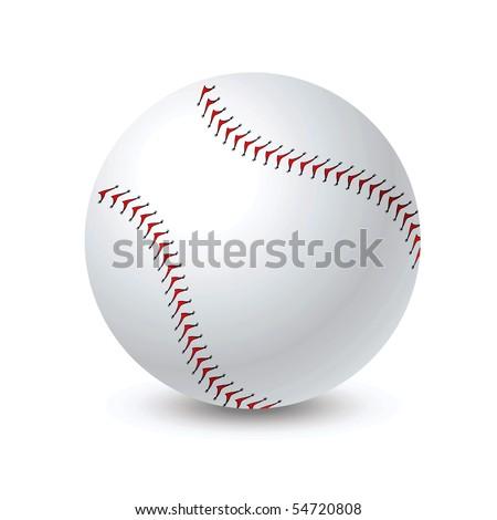 Vector baseball ball - stock vector