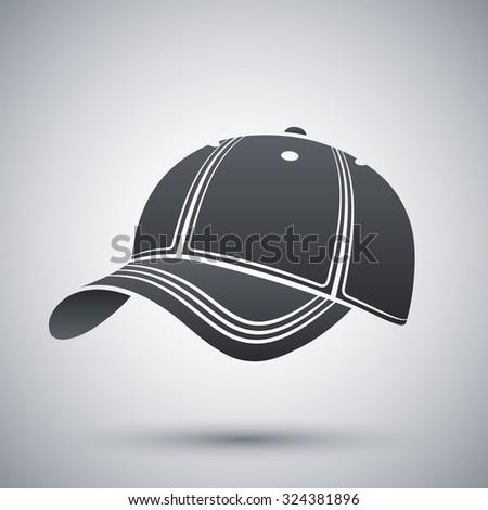 Vector baseball cap icon - stock vector