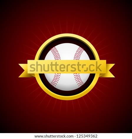 Vector Baseball Emblem - stock vector
