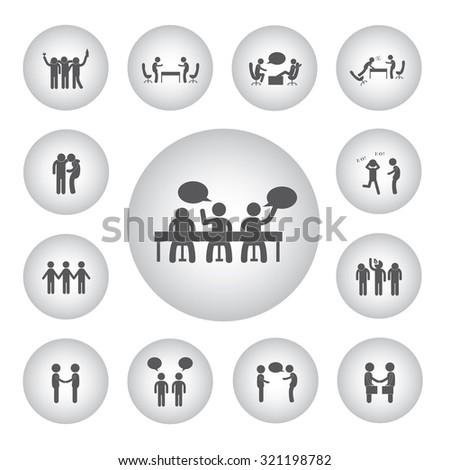 vector basic icon for friendship  - stock vector