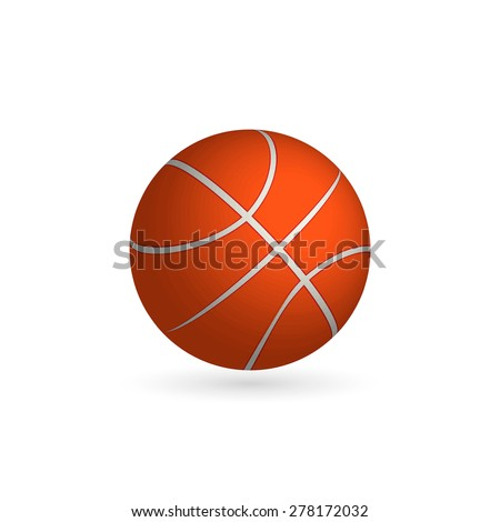 Vector Basketball ball isolated on a white background. Fitness symbol - stock vector