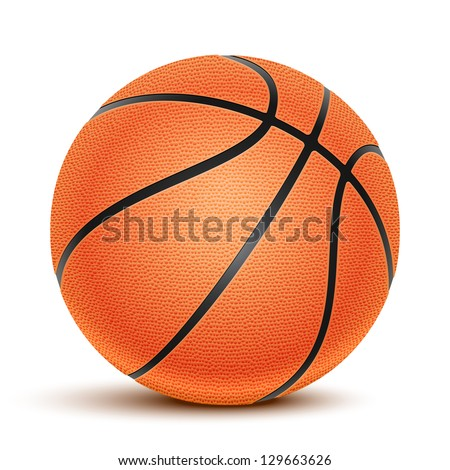 Vector Basketball isolated on a white background. Fitness symbol - stock vector