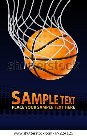 Vector Basketball Poster - stock vector