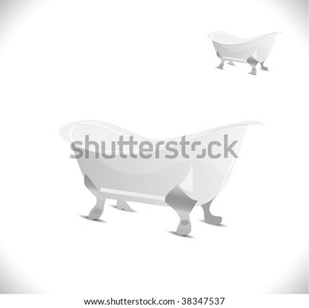 Vector bath icon. - stock vector